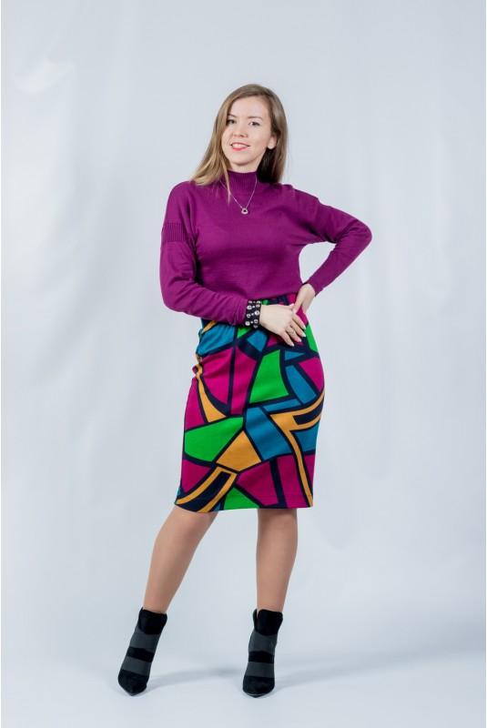 Женская юбка NITA Л 812-20 абстракция