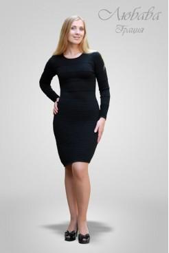 Платье NITA Л 074-1 черное