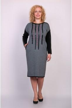 Платье NITA Л 647-19 серый меланж