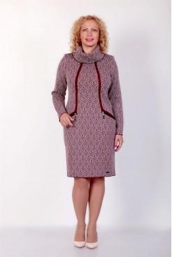 Платье NITA Л 736-19 бордово-серое