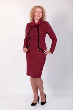 Платье NITA Л 736-19 кораллово-черное