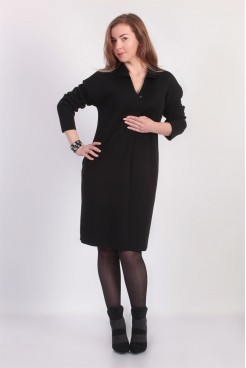 Платье NITA Л 782-19 поло черное