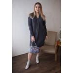 Женское платье Л 782/2-19 с воротником-шалькой графит