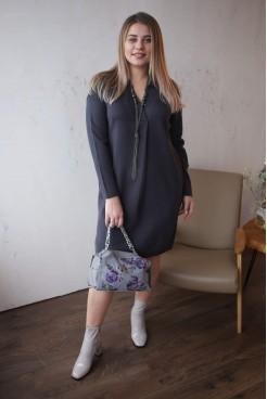 Платье NITA Л 782-19 поло графит