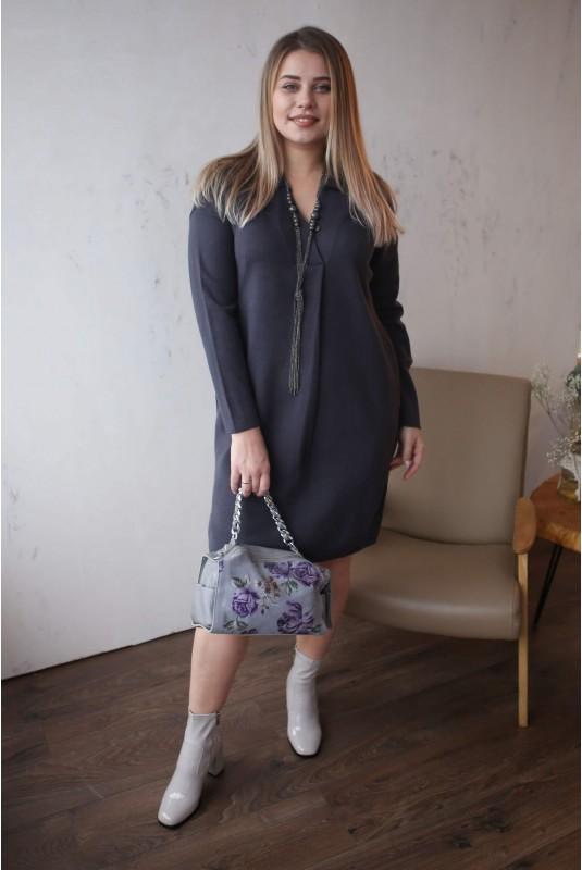 Женское платье Л 782-19 поло графит