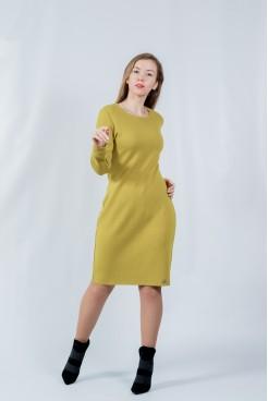 Платье  NITA  Л 799-20 горчица