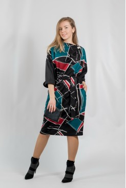 Платье NITA Л 809-20 черно-красный