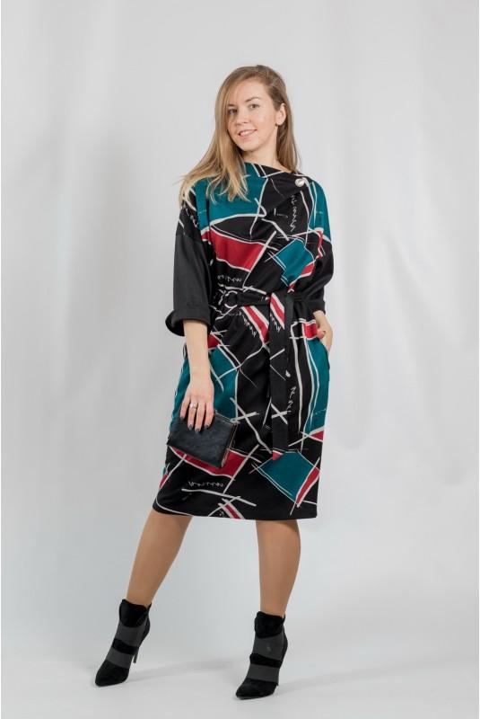 Женское платье NITA Л 809-20 черно-красный