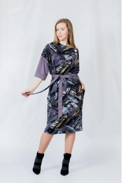 Платье NITA Л 809-20 абстракция-слива