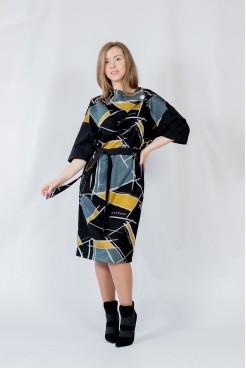 Платье NITA Л 809-20 черно-желтый
