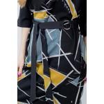 Женское платье NITA Л 809-20 черно-желтый
