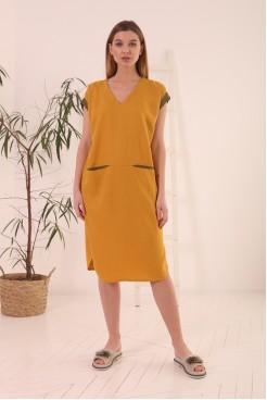 Платье NITА Л 851-21 горчица