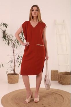 Платье NITА Л 851-21 терракот