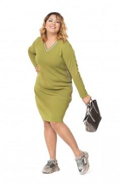 Платье  NITA Л 787-19 оливковый