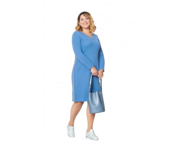 Женское платье NITA  Л 787-19 джинс