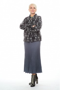 Жакет NITA Л 794-20 черно-серый