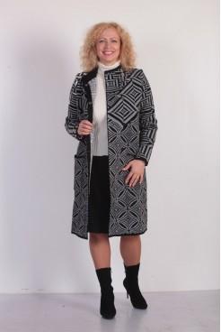 Пальто NITA Л 690-18 серый