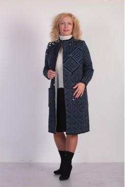 Пальто NITA Л 690-18 синий