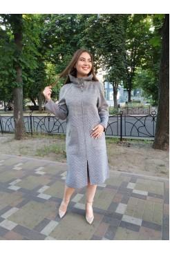 Пальто NITA Л 733-19 серый меланж